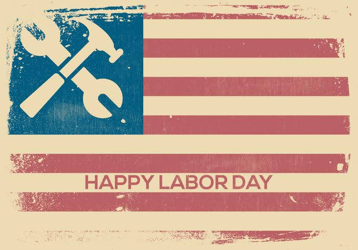 vintage-labor-day-background-vector