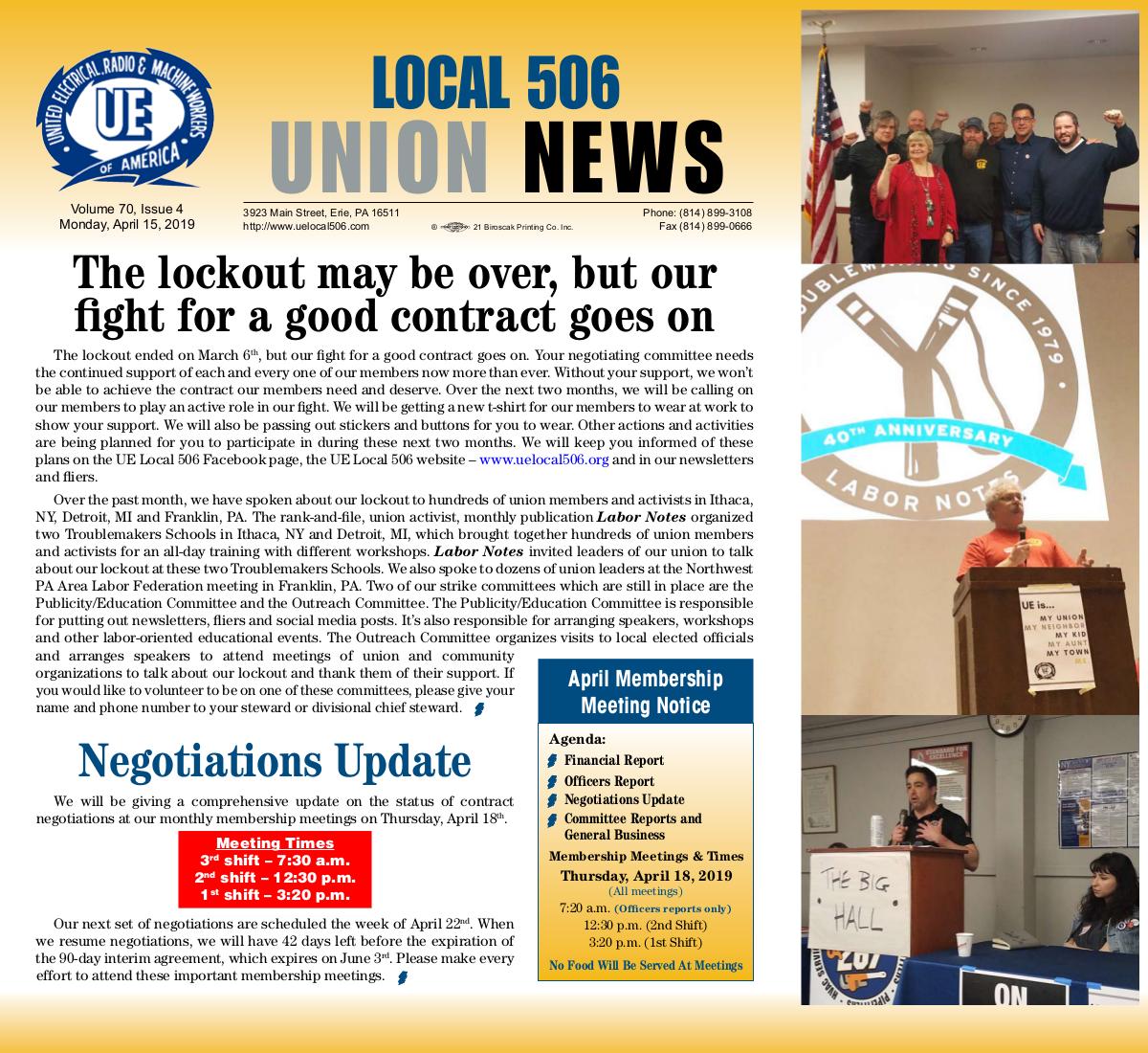 UE Local 506 -